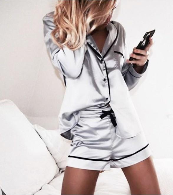 Outfit style cute pajamas inspo, set pijama