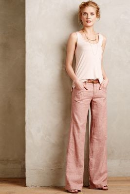 Lookbook fashion anthropologie linen pants, sleeveless shirt, fashion model, cargo pants
