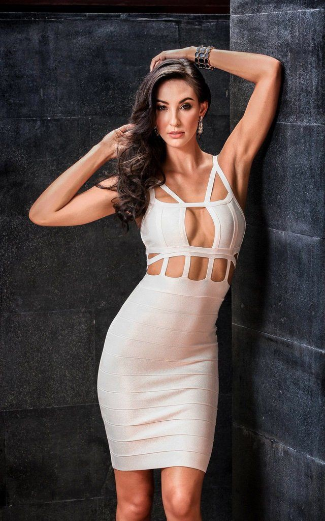Outfit style with cocktail dress, bandage dress