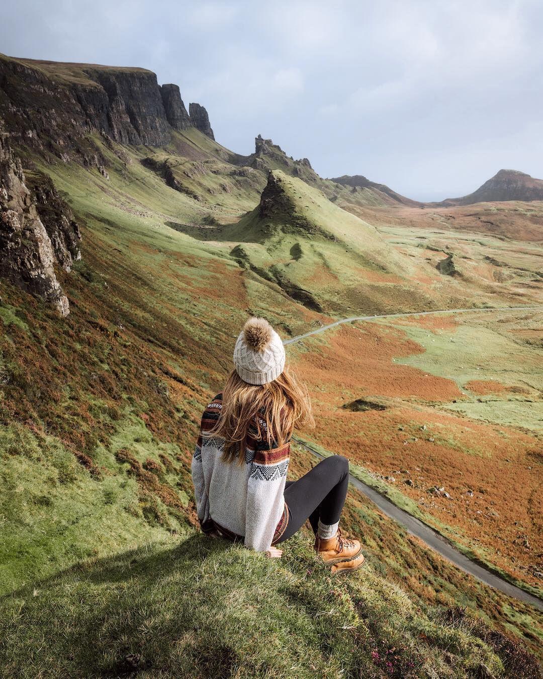 Designer outfit isle of skye, mountainous landforms, scottish highlands, natural landscape, nati ...