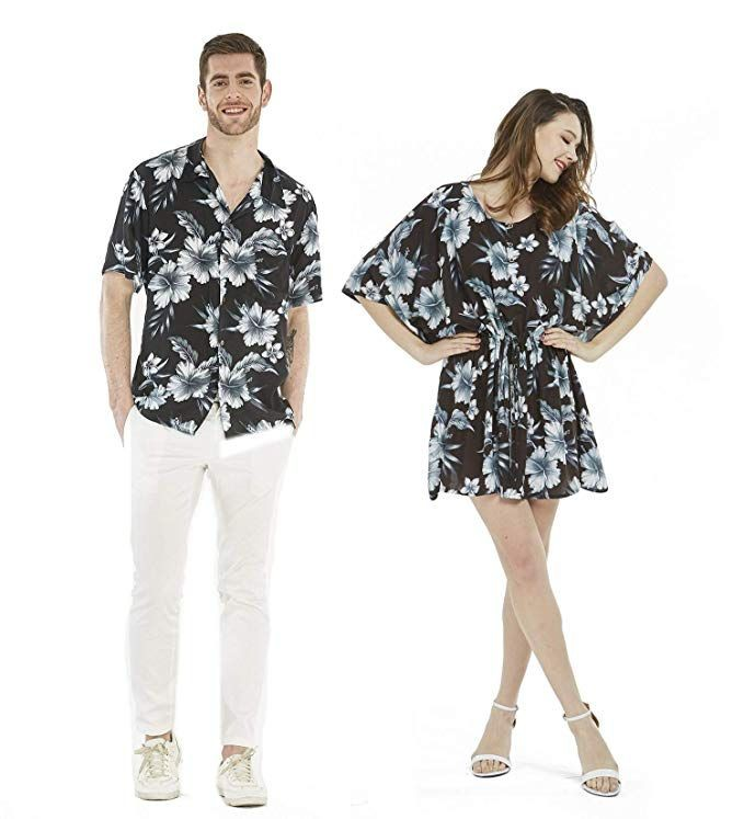 Matching couple dress and shirt