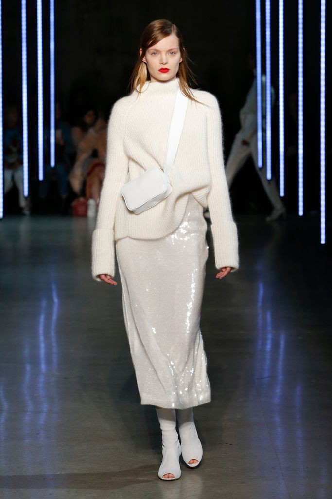 Glitter white fashion dress ready to wear, haute couture