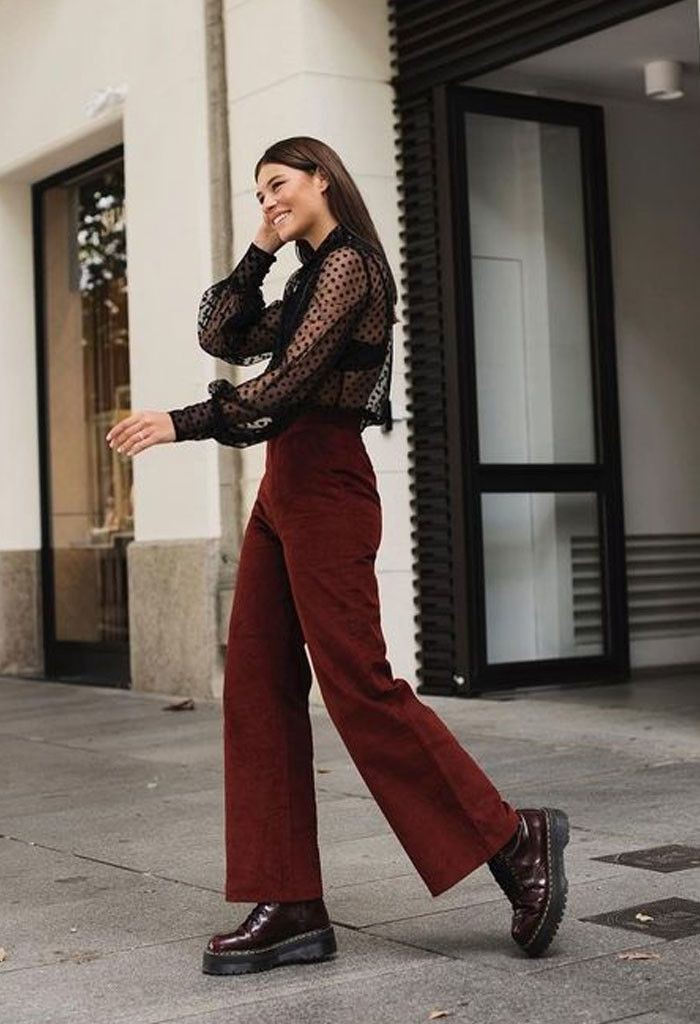 Maroon outfit ideas with formal wear, trousers