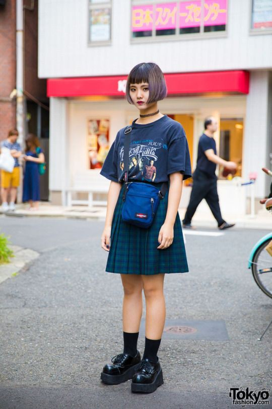 Blue trendy clothing ideas with vintage clothing, tartan, skirt