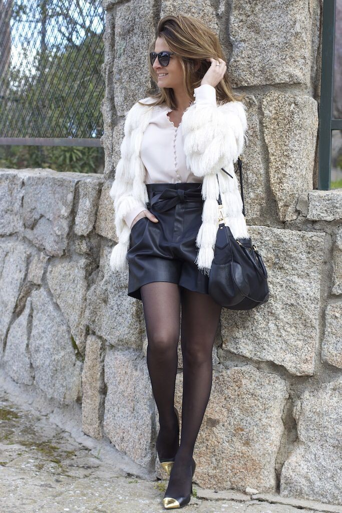 White trendy clothing ideas with pantyhose, leggings, stocking