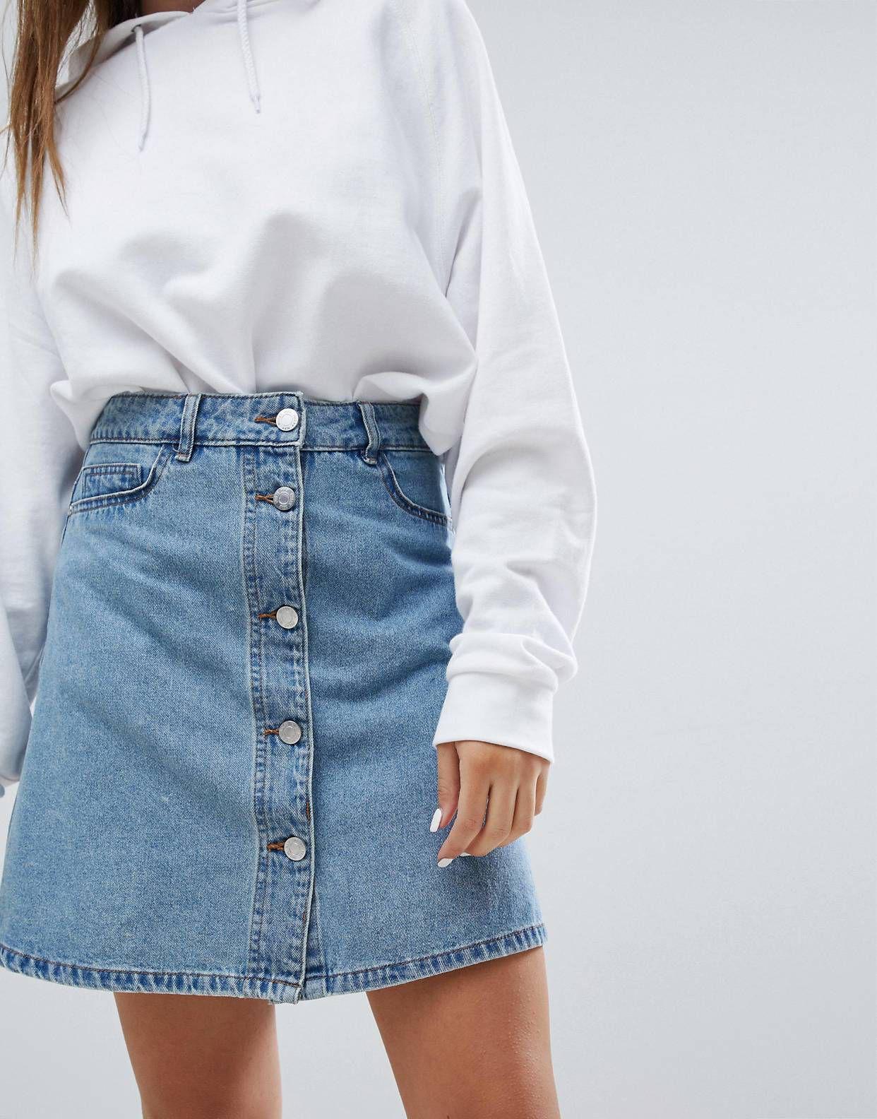 White and blue attire ideas with jean short, miniskirt, skirt
