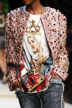 Dolce and gabbana embellished jacket