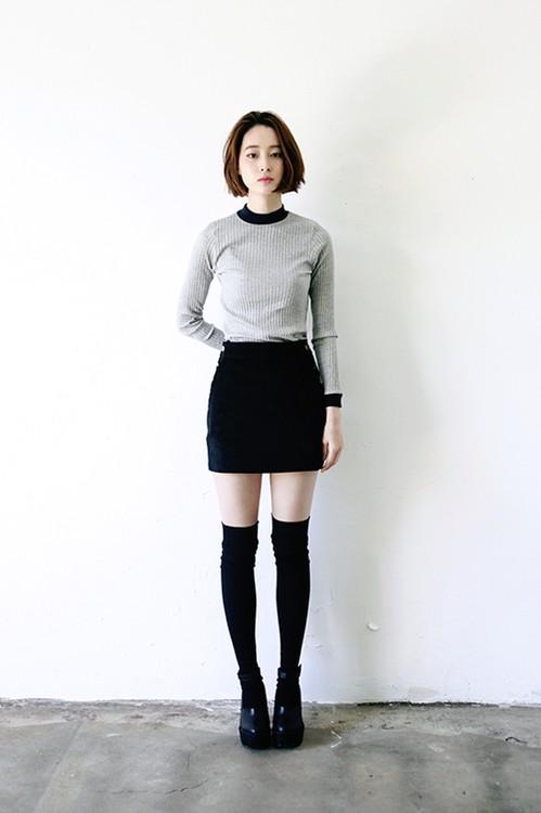 Dresses ideas skirt with socks, knee highs