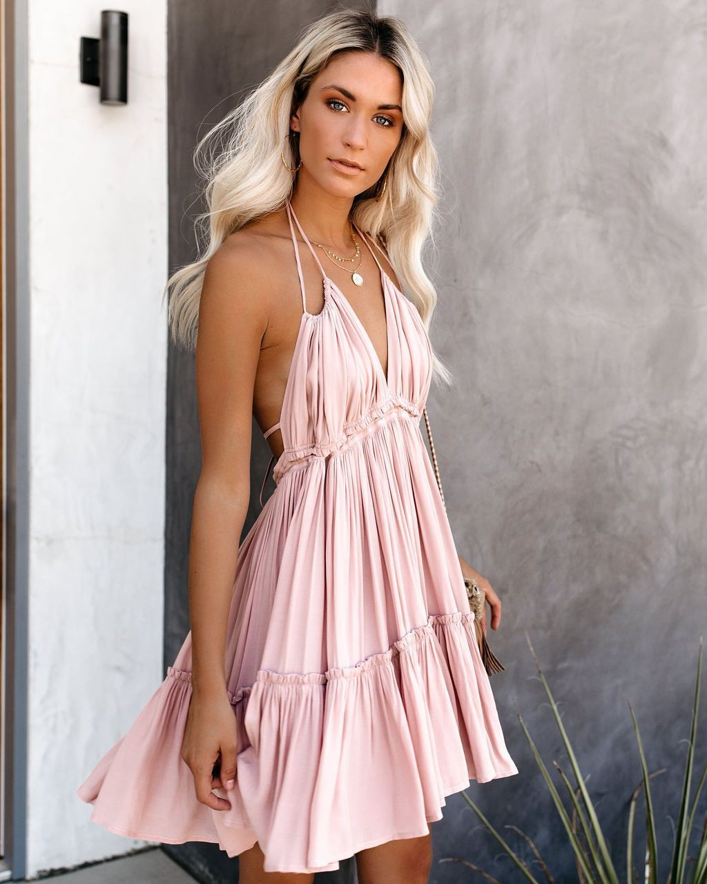 Pink fashionnova with cocktail dress