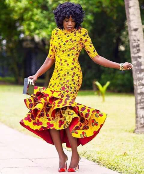 Colour combination african women outfits african wax prints, street fashion
