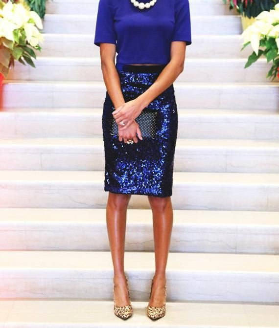Cobalt blue and blue trendy clothing ideas with cocktail dress, pencil skirt, skirt