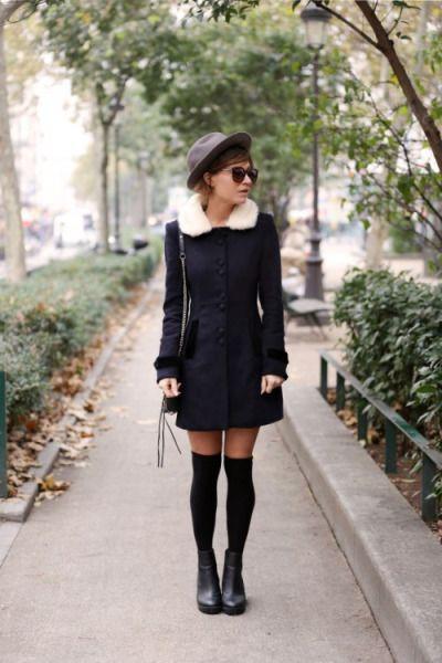 Colour outfit ideas 2020 wear overknee socks thigh high boots, street fashion