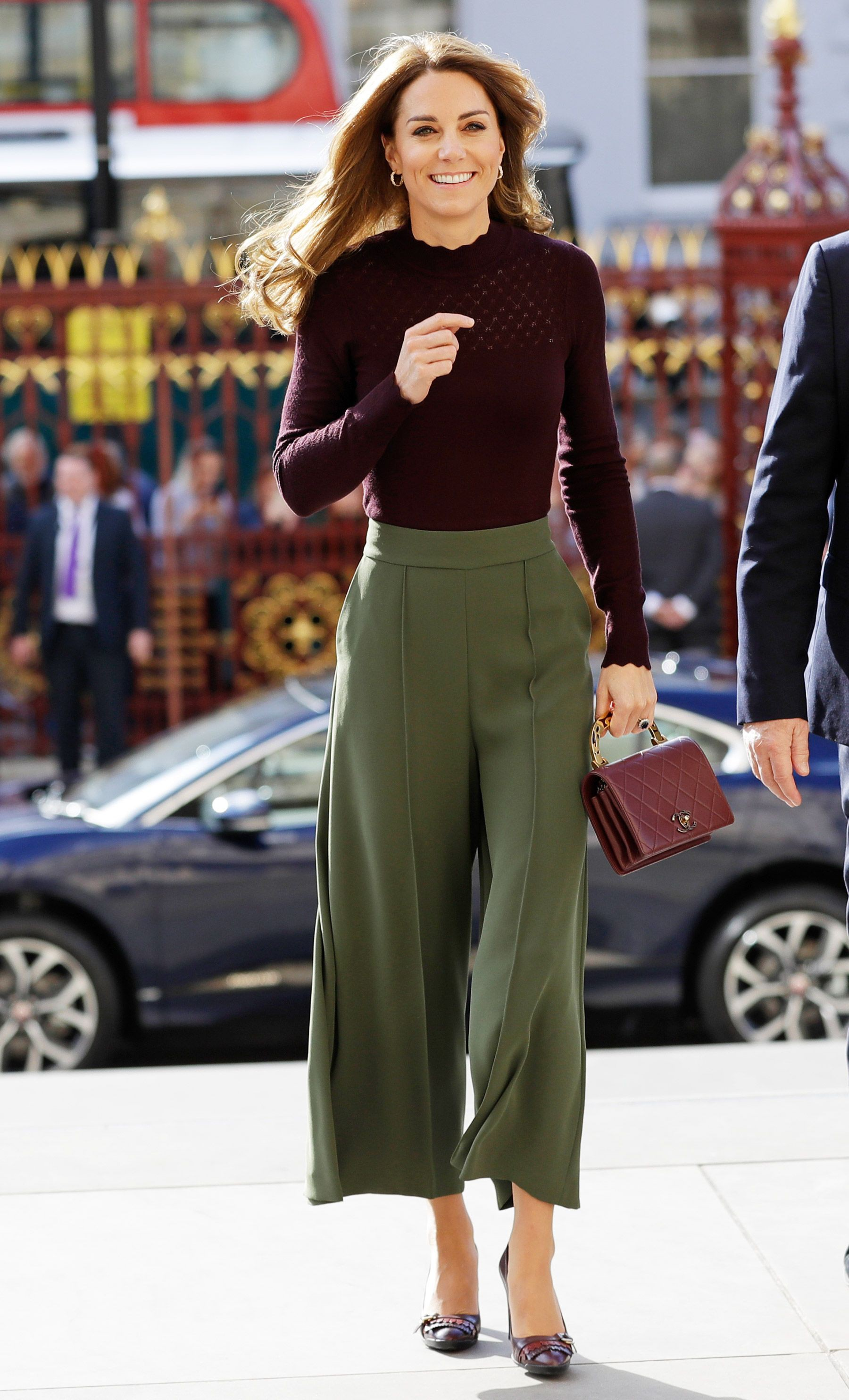 Instagram fashion kate middleton culottes, street fashion, fashion model, polo neck, long hair,  ...