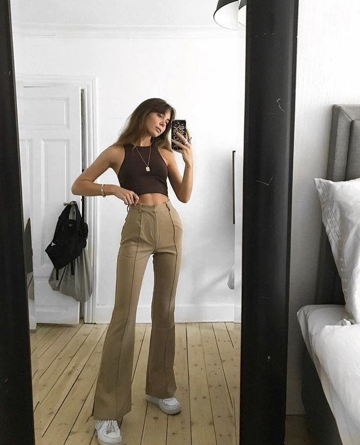 Outfit Stylevore with sportswear, crop top, trousers