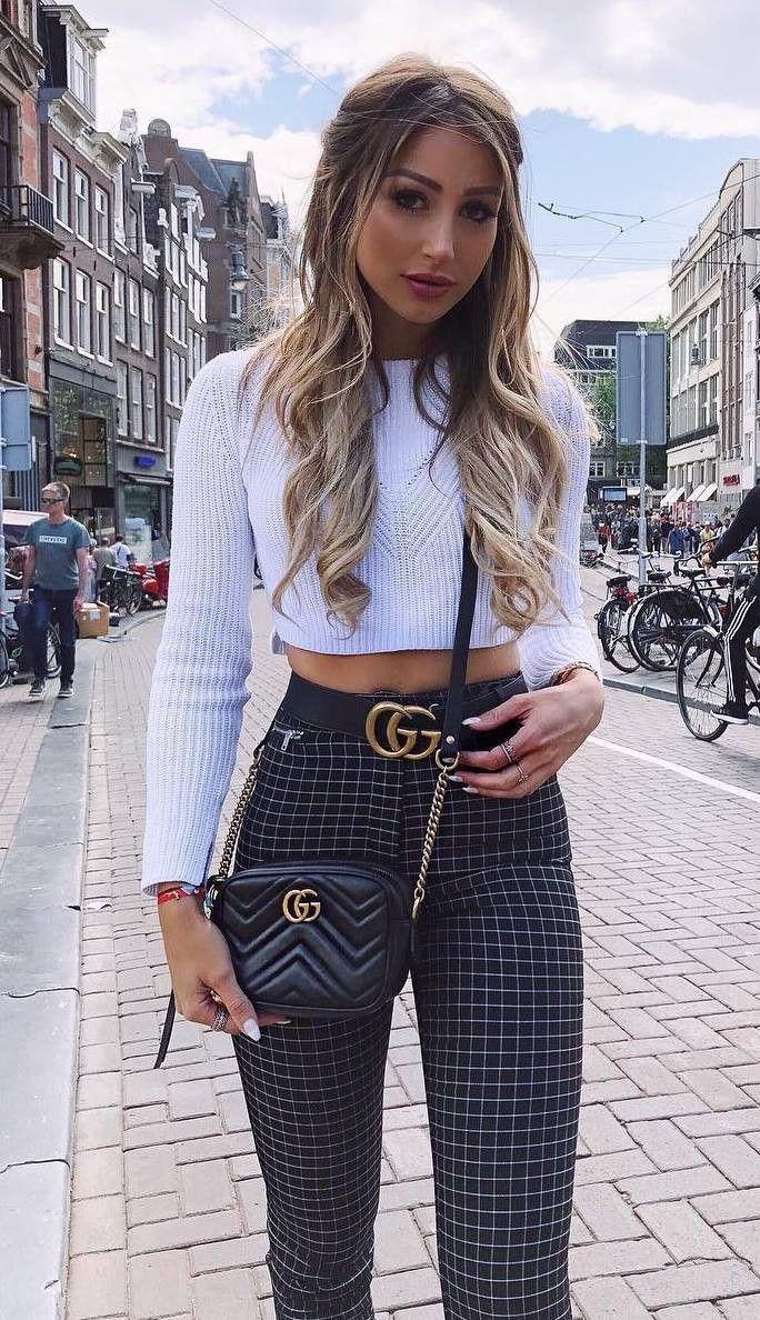 Outfit ideas plaid pants outfits slim fit pants, street fashion