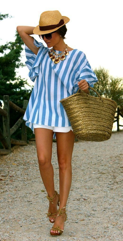 Colour ideas beach holiday looks, summer vacation, street fashion, electric blue, resort wear