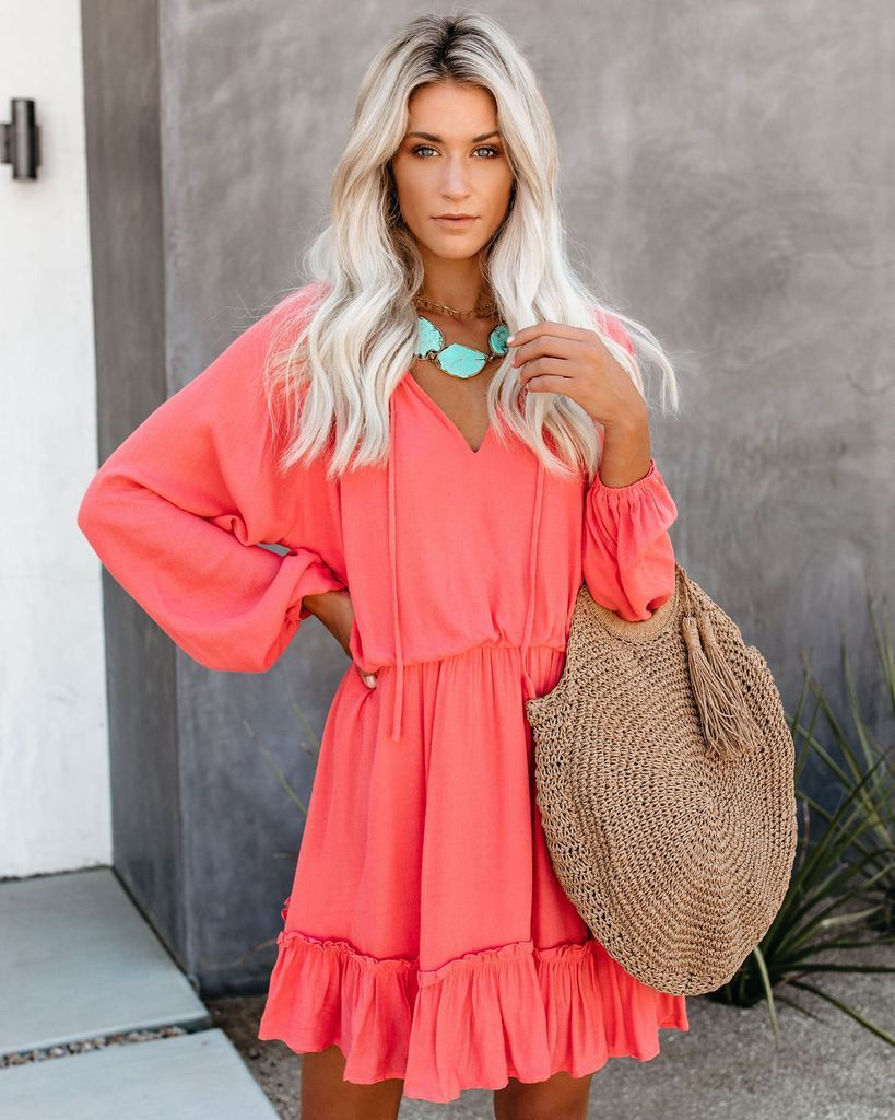 Orange and pink outfit with skirt, top