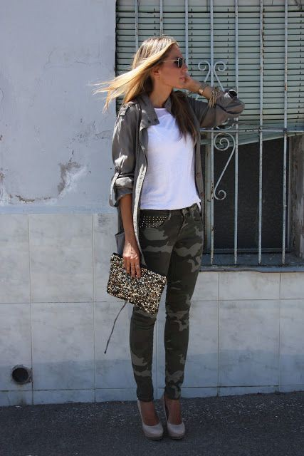Skinny camo pants outfits slim fit pants, street fashion