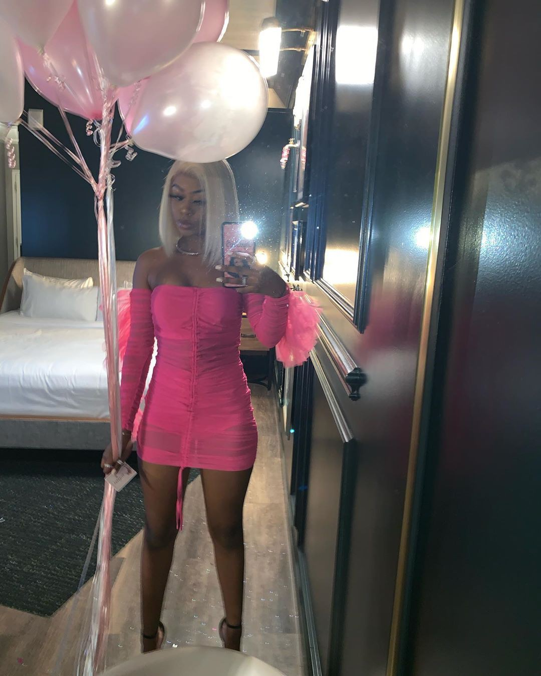 Pink classy outfit with sheath dress, party dress