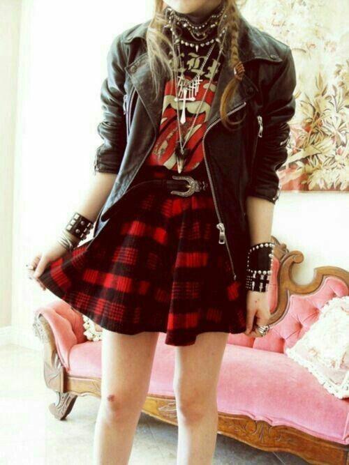 Glam rock grunge look, alternative fashion, grunge fashion, heavy metal, indie rock, punk rock,  ...