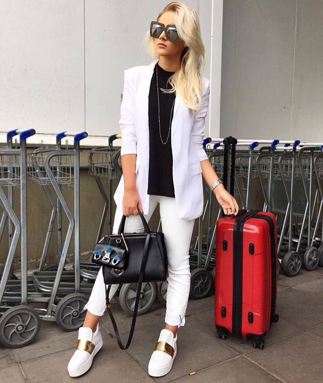 White colour outfit, you must try with jacket, blazer, jeans