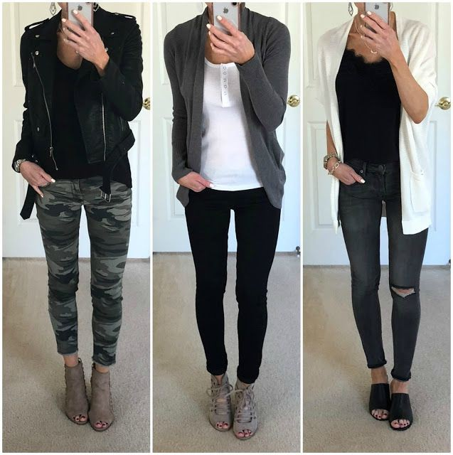 Black clothing ideas with leather jacket, trousers, jacket