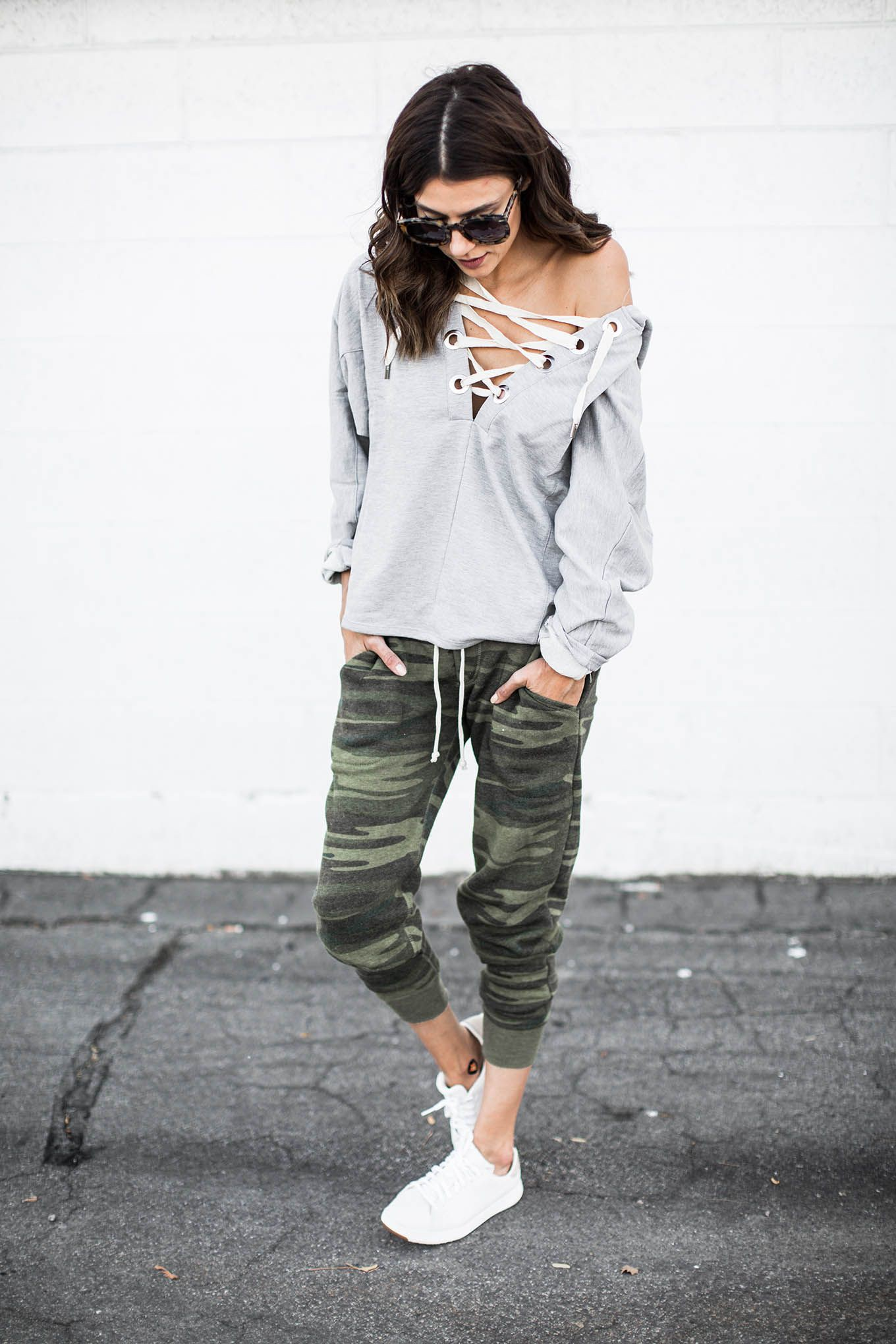 White clothing ideas with sportswear, sweatpant, trousers