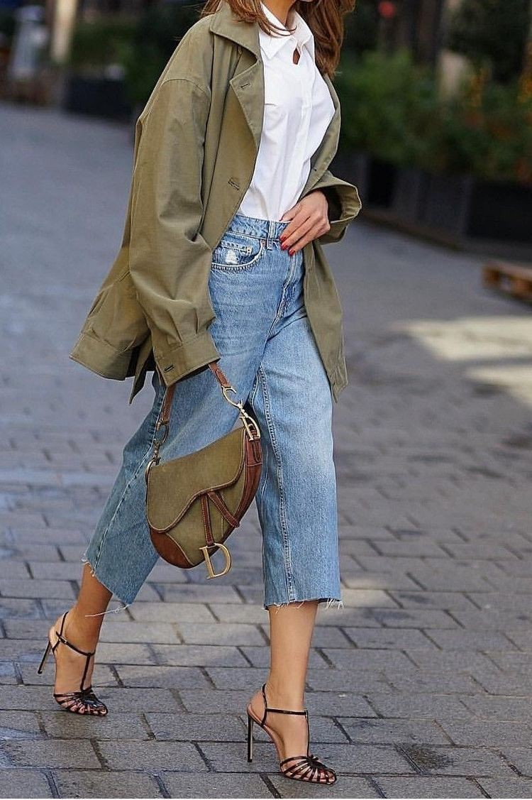 Colour outfit with shirt, denim, jeans