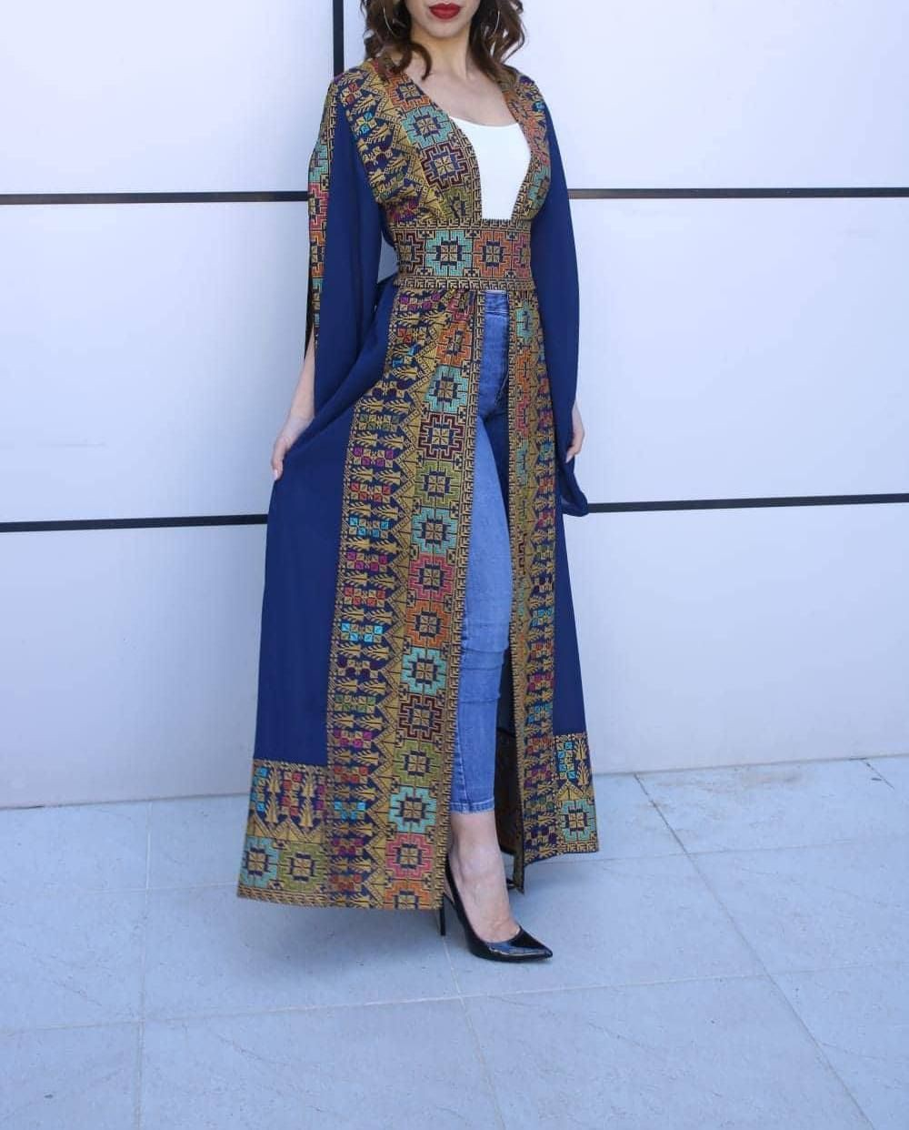 Blue outfit Pinterest with formal wear, embroidery, maxi dress