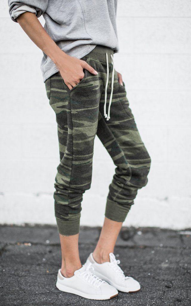 Designer outfit camo sweatpants outfit, camo joggers, active pants, capri pants, cargo pants