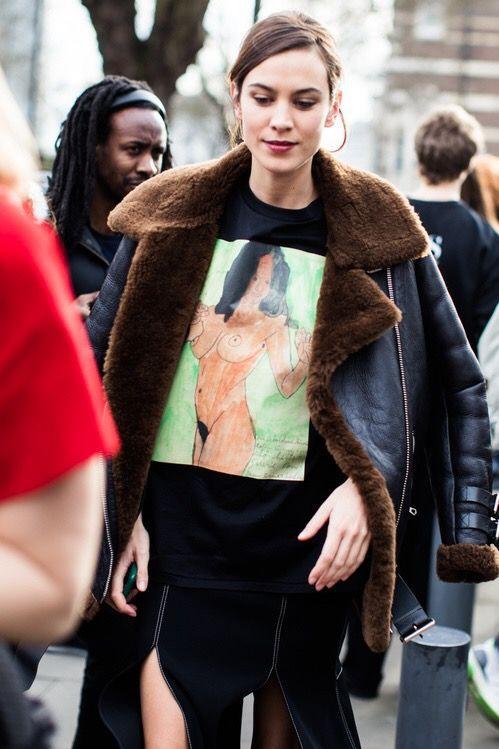 Alexa chung london fashion week 2017