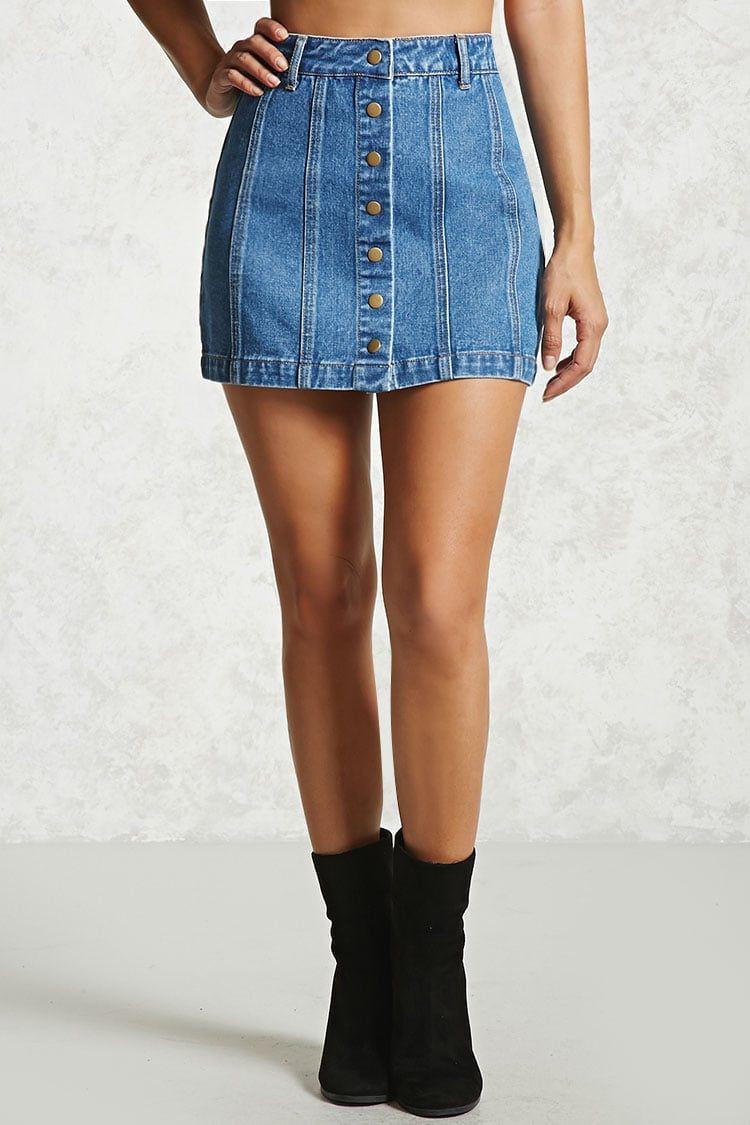 Trendy clothing ideas falda mezclilla botones, denim skirt, jean short, t shirt