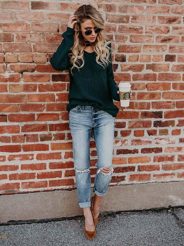 Green colour combination with dress shirt, sweater, shorts
