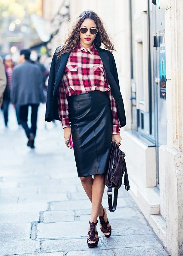 Colour outfit, you must try with pencil skirt, retro style, trousers