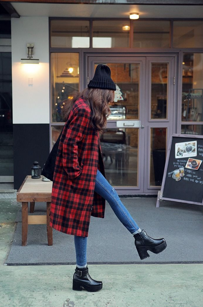 Outfit Pinterest platform boots outfit high heeled shoe, street fashion