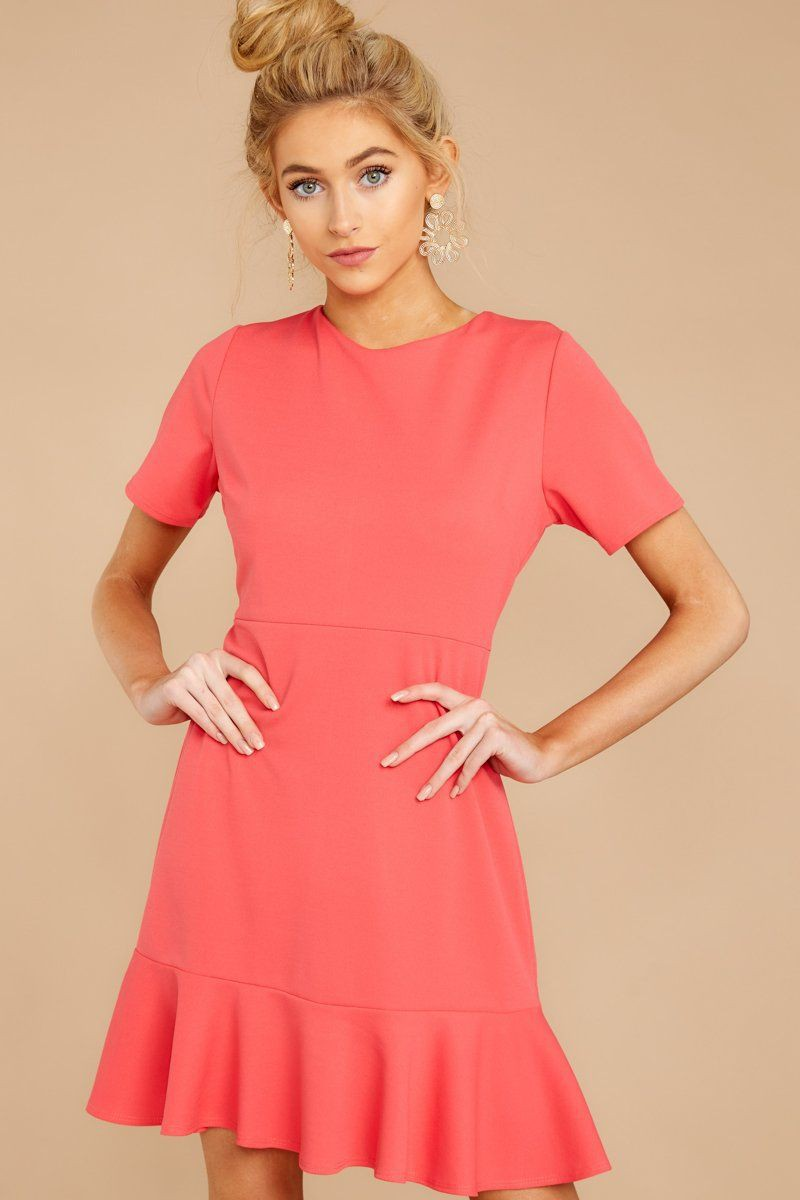 Pink lookbook fashion with cocktail dress