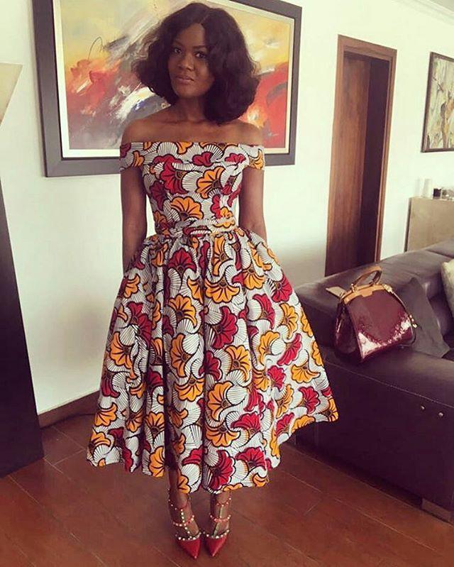Off shoulder african dress african wax prints, one piece garment