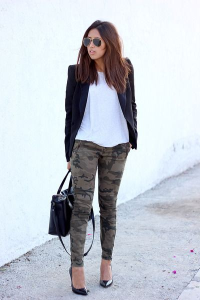 Style outfit usar pantalones militares, street fashion