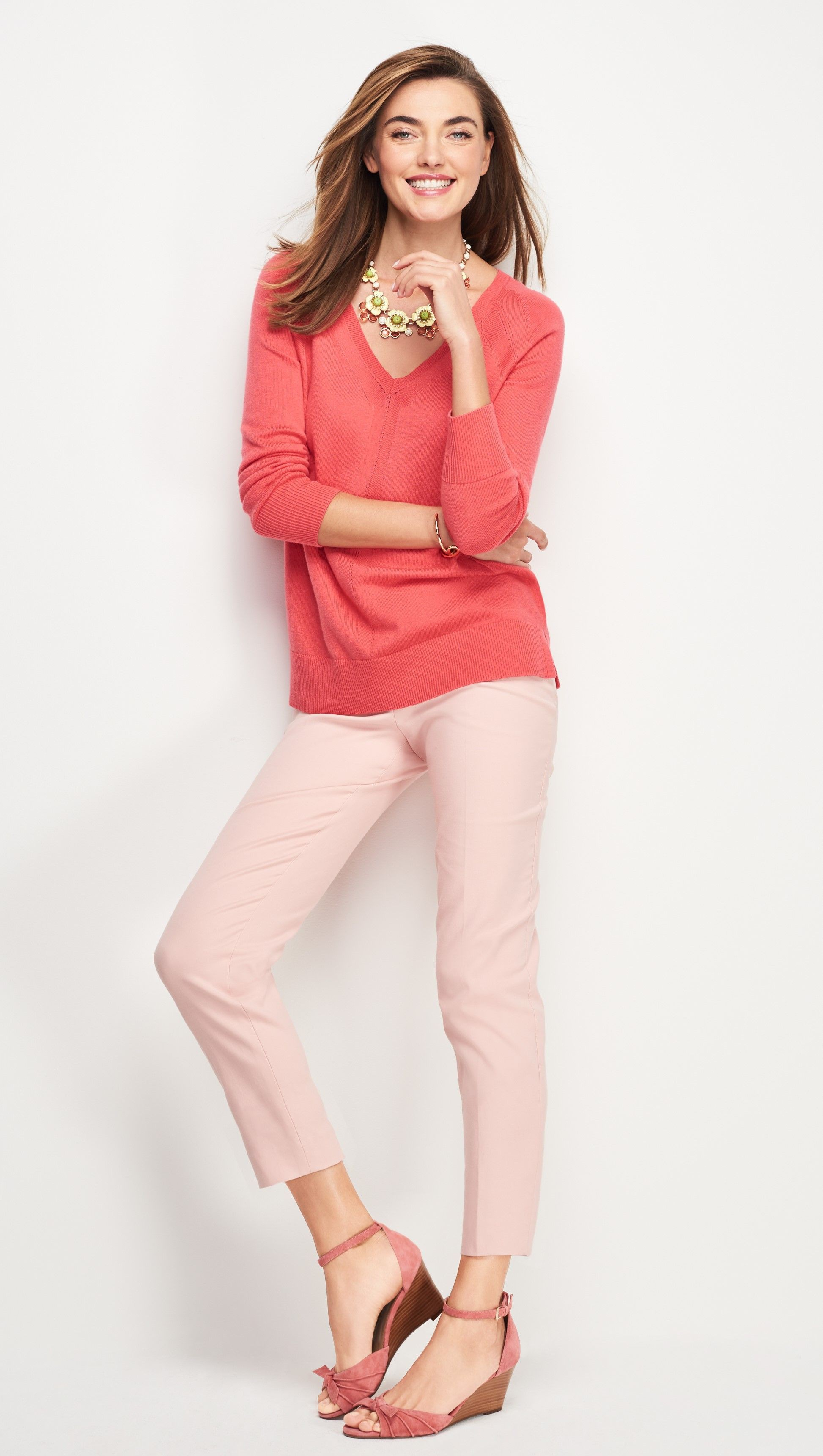 Pink colour dress with