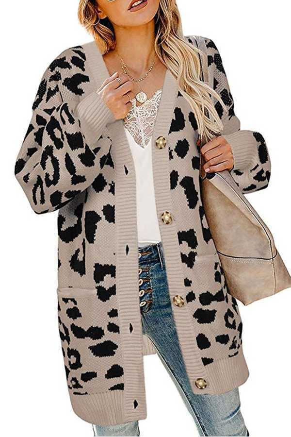 Beige and white trendy clothing ideas with animal print, trench coat, overcoat
