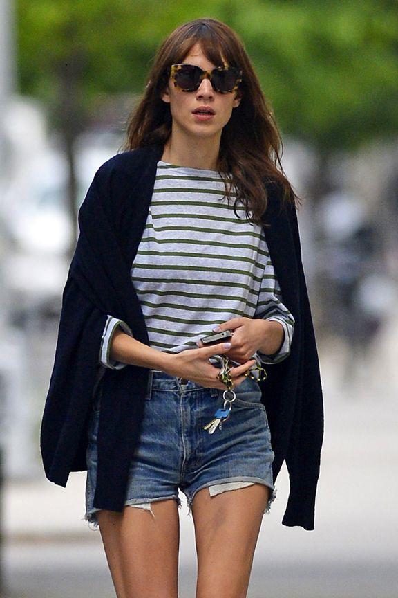 Saint james alexa chung, television presenter, street fashion, alexa chung, jean short, it girl