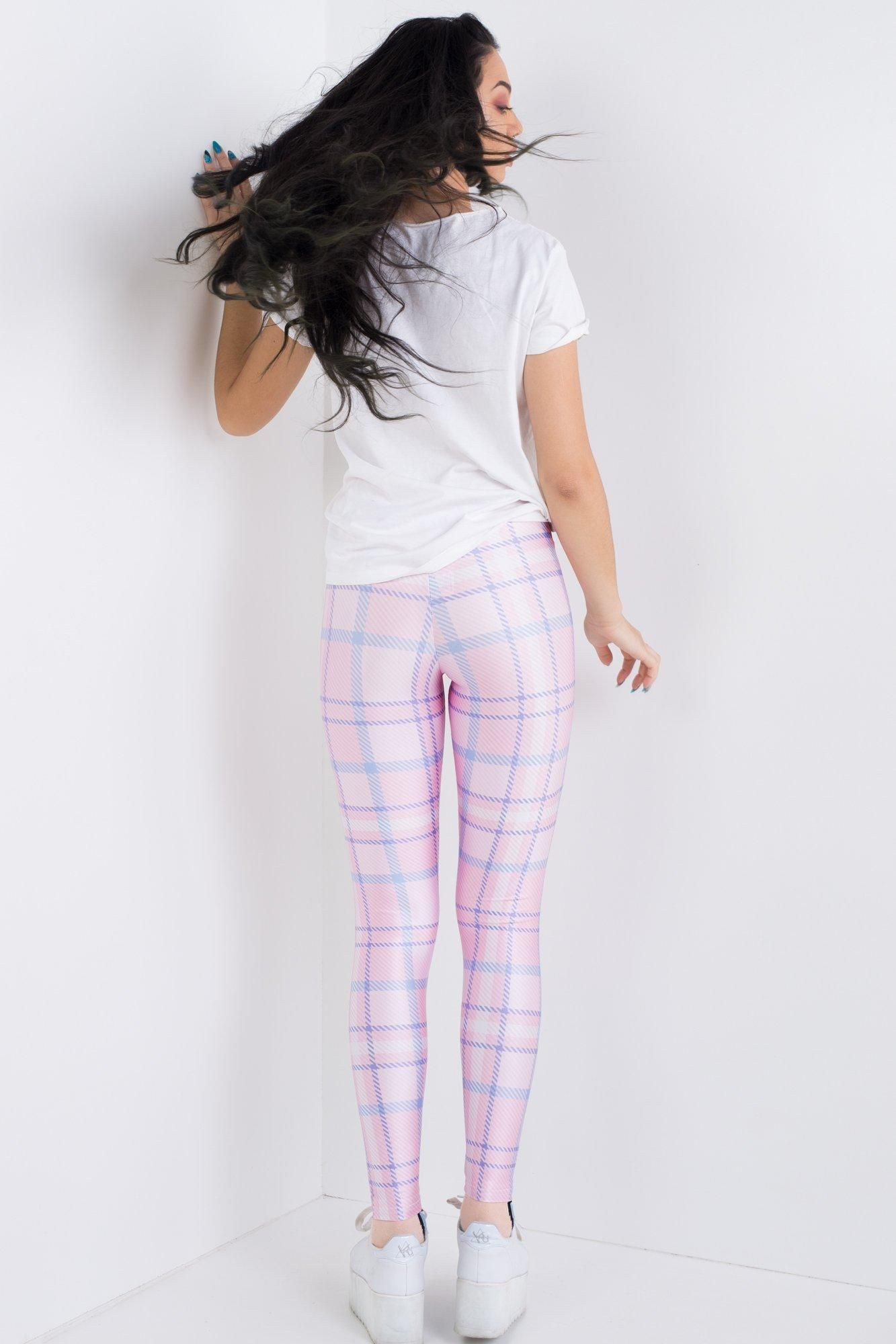 White and pink clothing lookbook ideas with leggings, tartan, tights