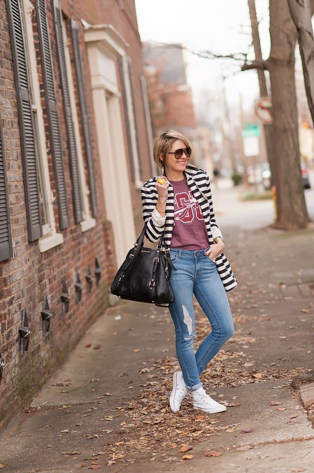 Pink style outfit with denim, jeans