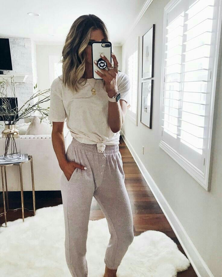 Colour outfit ideas 2020 lazy day outfits, casual wear, t shirt