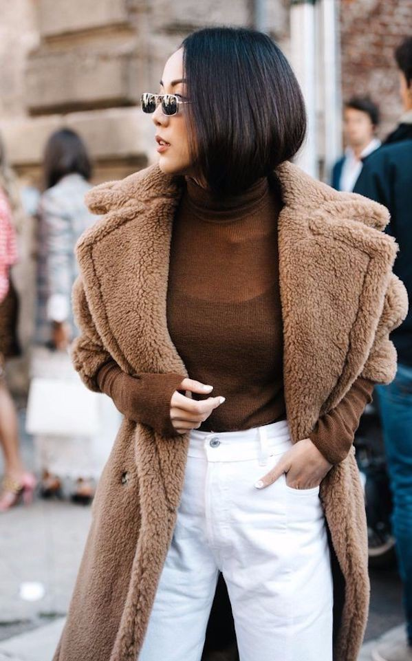 Combinar el color camel, abrigo   camel, street fashion, fashion blog, fur clothing, trench coat ...
