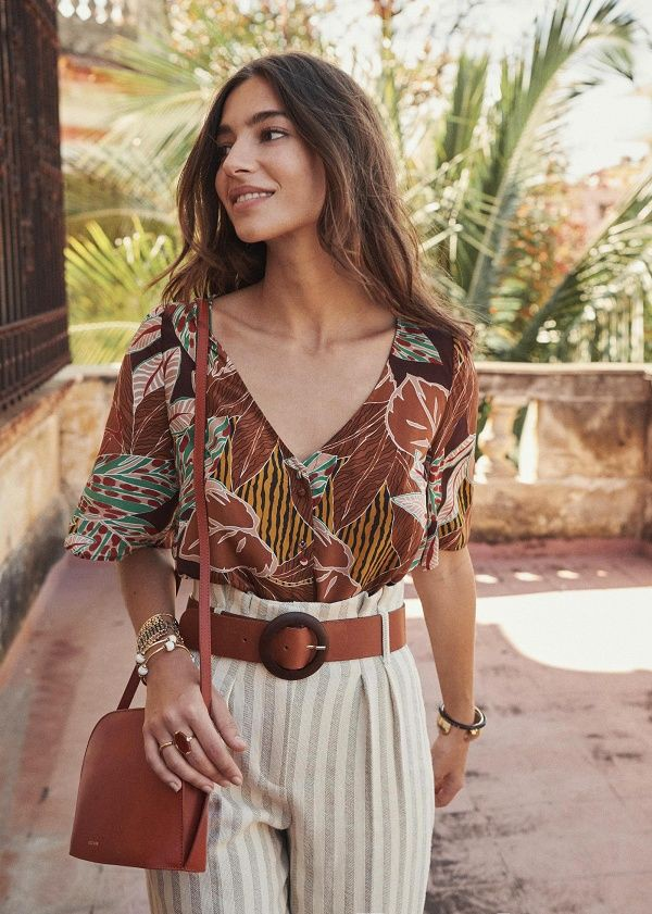 Colour outfit ideas 2020 blouse aretha sezane, fashion accessory, photo shoot, outfit set, boho  ...