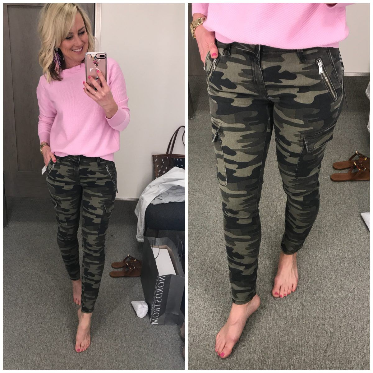 Khaki and pink dresses ideas with active pants, sweatpant, trousers