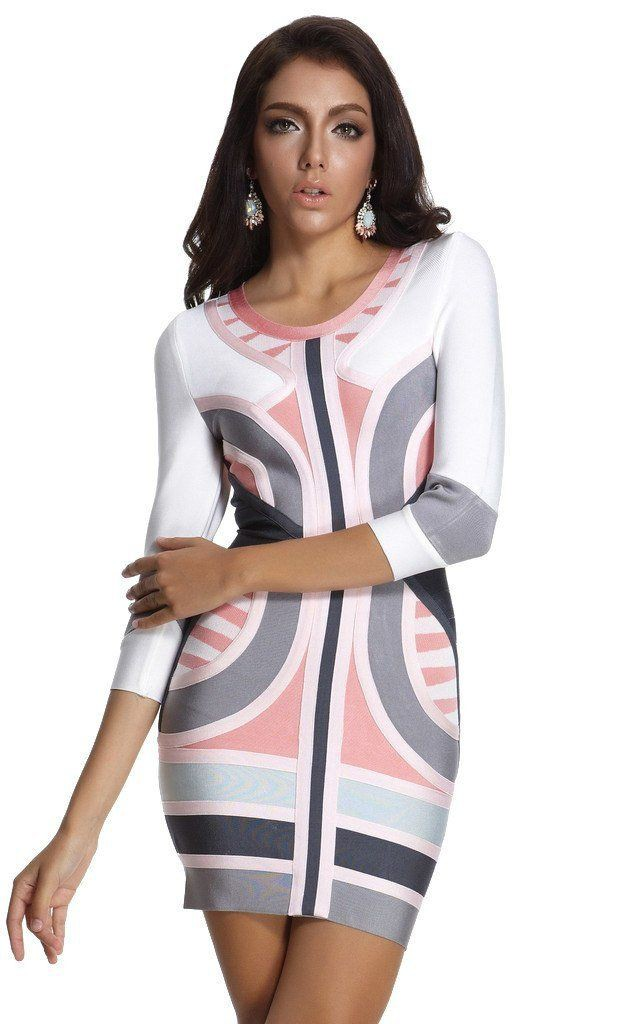 White and pink dresses ideas with cocktail dress, bandage dress, day dress
