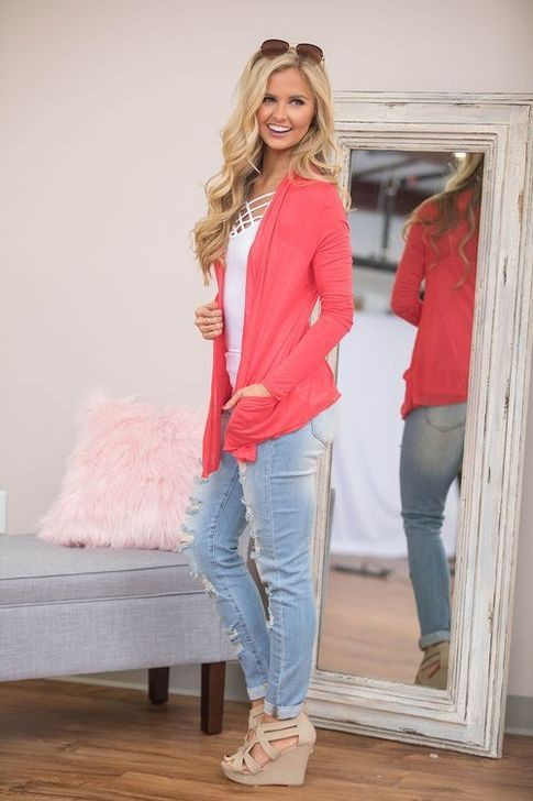 Pink colour outfit ideas 2020 with sweater, blazer, denim