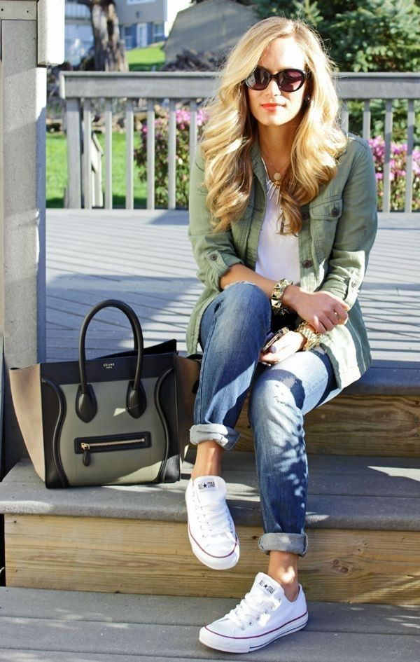 Colour ideas white converse outfit, street fashion, plimsoll shoe, chuck taylor, casual wear